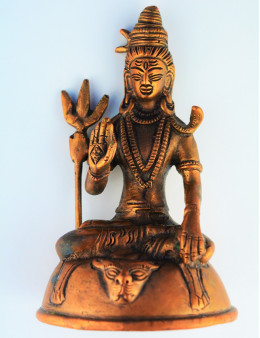 Statue indienne Shiva - 13,5cm - Cuivre