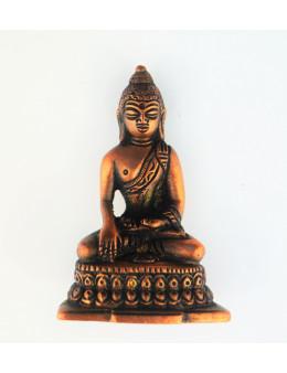 Statue cuivre rouge Bouddha 8,5 cm