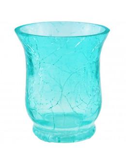 Photophore en verre craquelé évasé