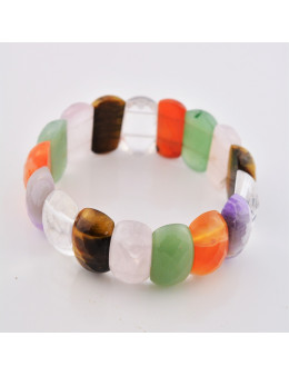 Bracelet élastique multipierres