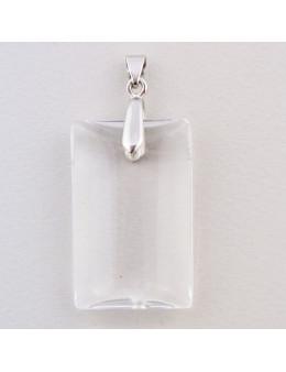 Pendentif cristal de roche rectangulaire