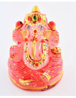 Statue Ganesha Quartz Rose