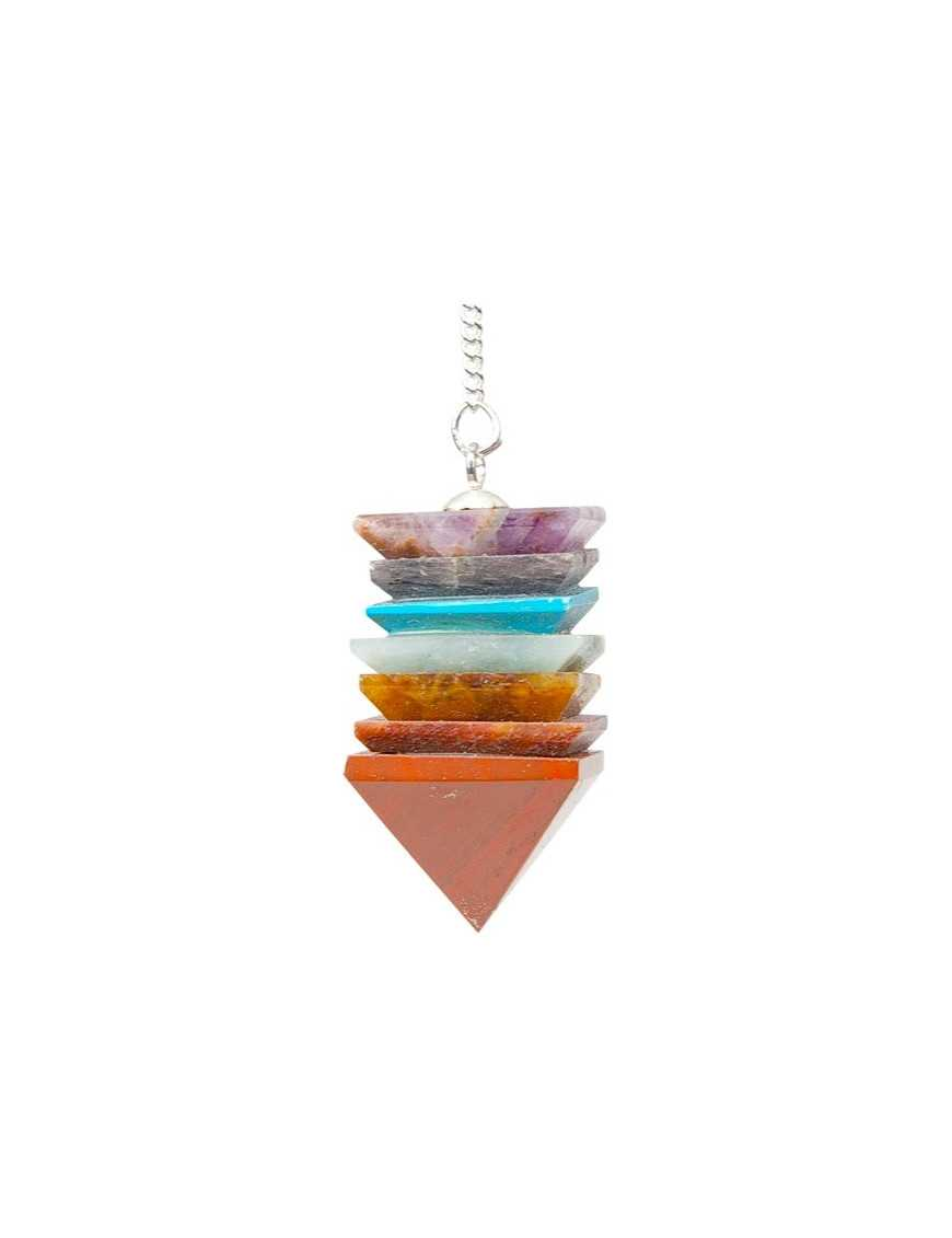 Pendule pyramide 7 chakras