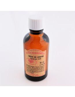 Huile essentielle de Bois de cèdre 50 ml avec Compte-gouttes