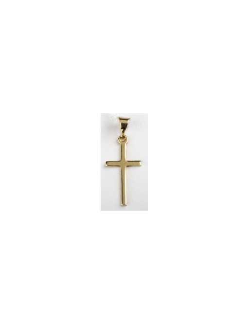 Croix baton  plaqué or