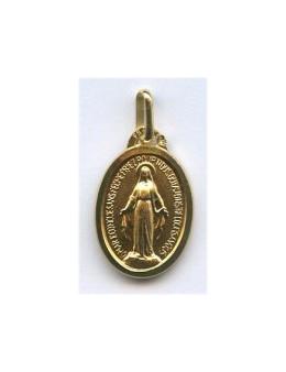 Médaille plaqué or Vierge Miraculeuse avec bordure 13 mm