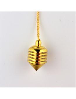 Pendule métal doré ajouré avec chaînette