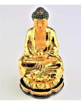 Bouddha Sakyamuni de méditation assis doré