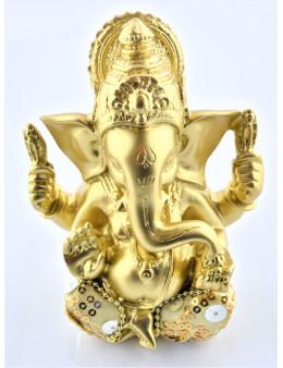 Statuette Ganesha assis 11,5 cm doré