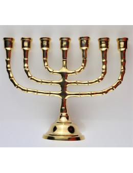 Ménorah ou chandelier 7 branches en bronze 21 cm