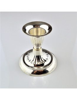 Bougeoir métal argenté 8,5 cm