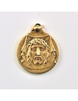 Médaille ronde Sainte Face et JHS