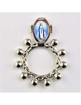 Dizainier métal argenté Vierge miraculeuse