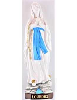 Statue résine Notre-Dame de Lourdes blanche 20 cm