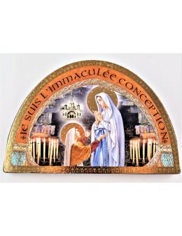 Chevalet image sur bois Immaculée Conception