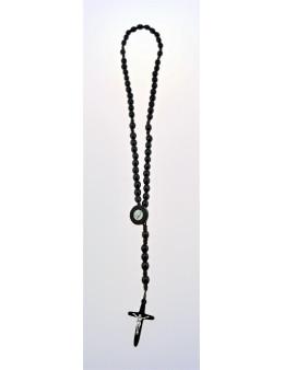 Chapelet dominicain corde et perles ovales en bois