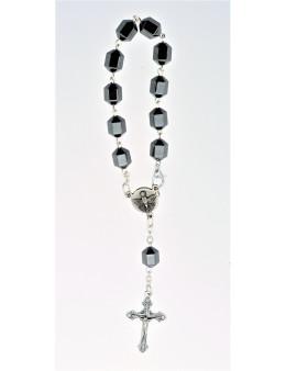 Dizainier chaîne et perles hématite avec fermoir