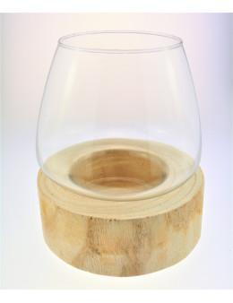 Photophore bois et verre