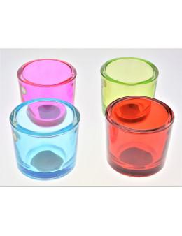 Photophore verre coloré