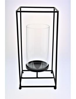 Photophore métal et verre 31,5 cm