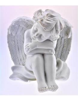 Statuette ange assoupi - résine
