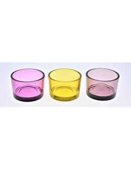 Photophore verre couleur