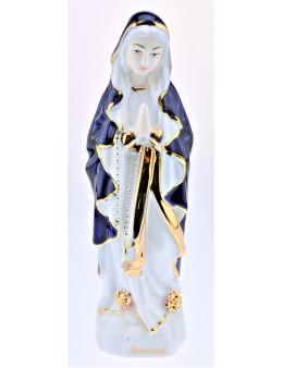 Statuette Notre-Dame de Lourdes en céramique brillante colorée 20 cm