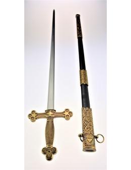 Epée maçonnique lame droit avec étui