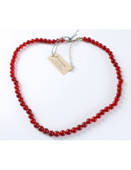 Collier perles rondes en pierre 8 mm