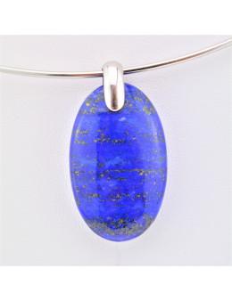 Pendentif ovale Lapis Lazuli - argent