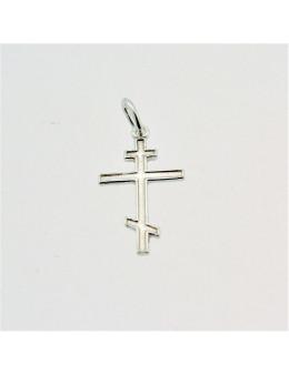 Pendentif argent Croix orthodoxe
