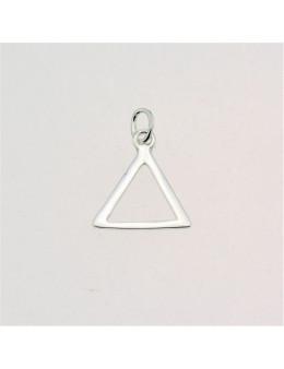 Pendentif argent triangle delta