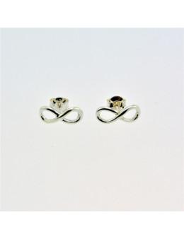 Boucles d'oreilles argent symbole infini