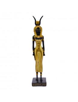 Statue Isis debout dorée