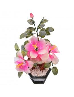 Fleur en pierres grand modèle