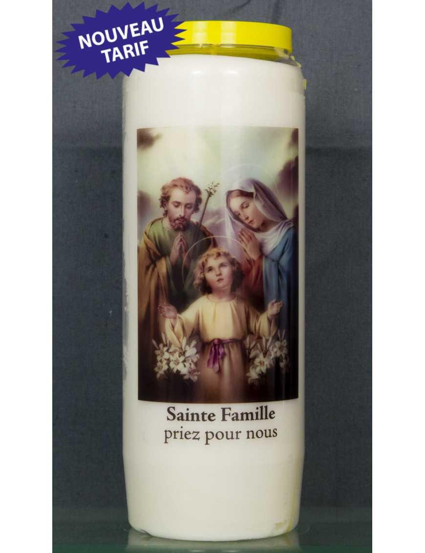 Bougie de neuvaine Ste Famille + prière