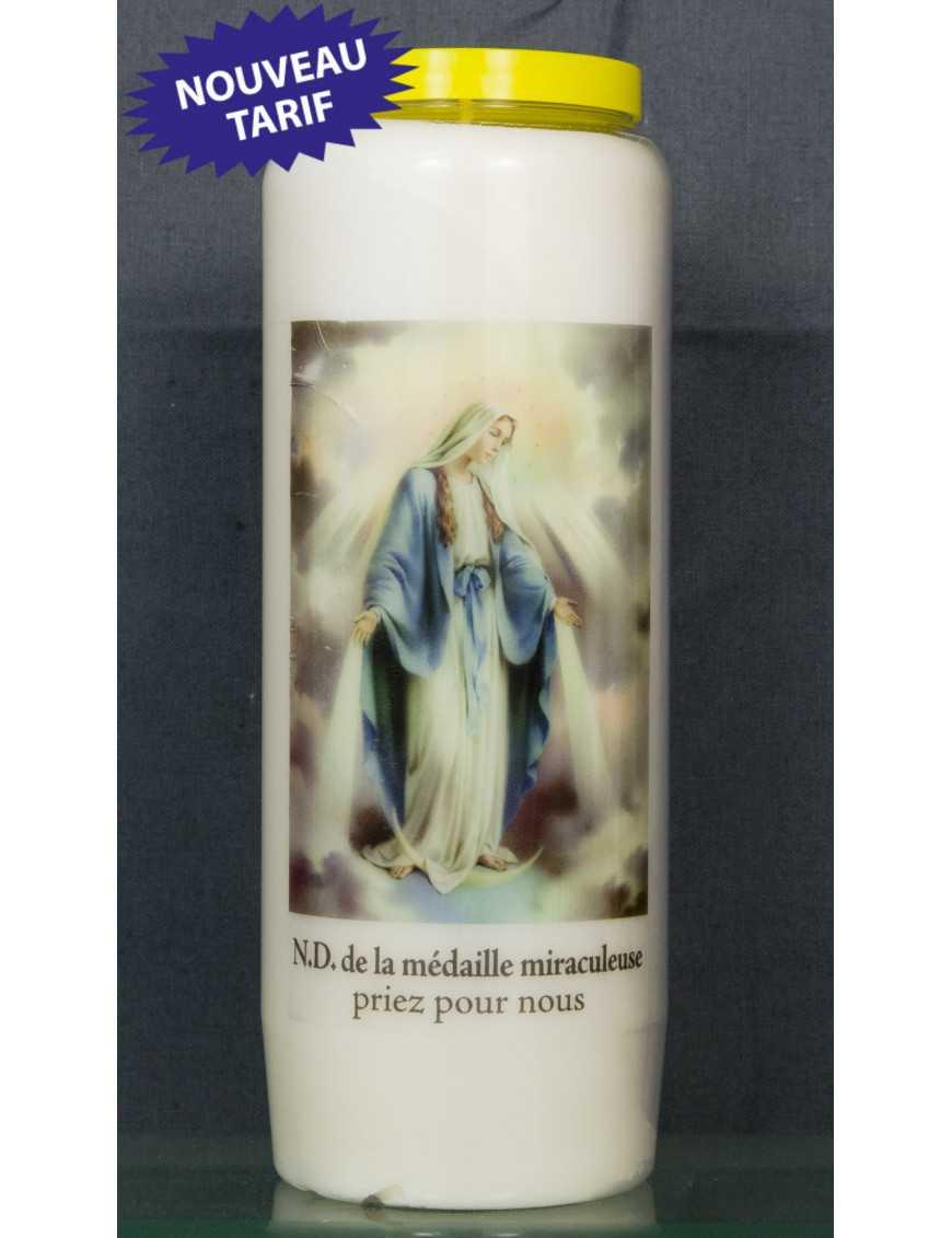Bougie de neuvaine V. miraculeuse + priè
