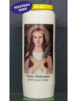 Bougie de neuvaine Ste Philomène + prièr