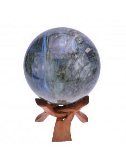 Sphère Labradorite 10.5 cm avec suport