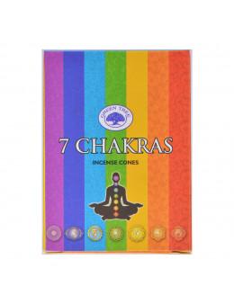 Encens Green Tree 7 Chakras Cones 15 grammes