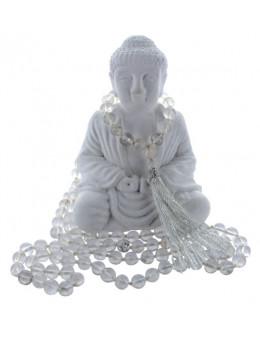 Mala en Cristal de Roche - 108 Perles - 76cm x 7mm