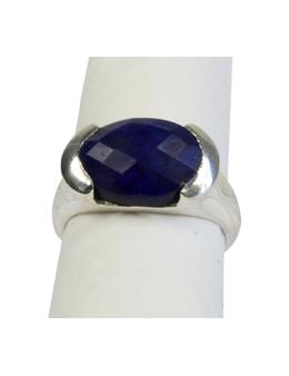 Bague argent Lapis Lazuli facetté