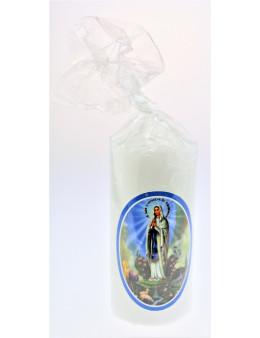 Bougie blanche Saints Catholiques