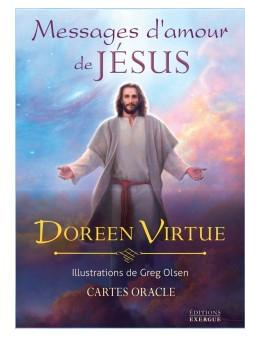 Messages d'amour de Jésus - coffret de 44 cartes 10 x 14 -oracle et un livre explicatif