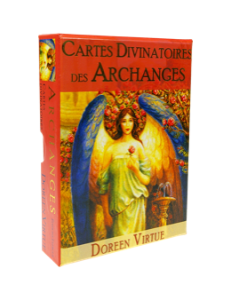 Cartes divinatoires des Archanges - Doreen VIRTUE - coffret de 44 cartes 10 x 14 -oracle et un livre explicatif