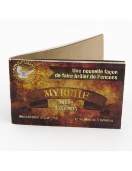 Papier buvard d'encens Myrrhe.