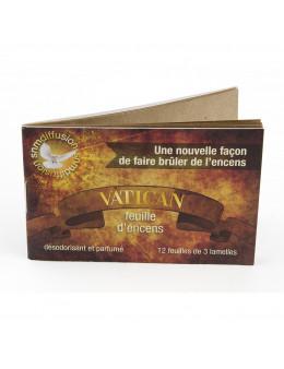 Papier buvard d'encens Vatican