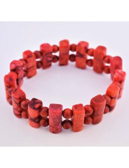Bracelet élastique Corail Rouge