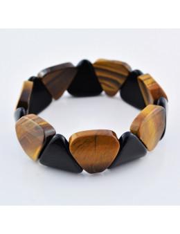 Bracelet élastique en pierres triangulaires