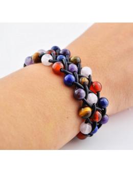 Bracelet lanière et pierre